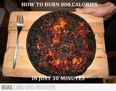 How to burn calories...