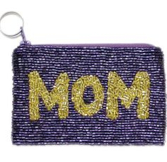Custom Beaded Keychain Wallet - Available at https://www.delraymonograms.com/handbags