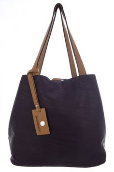 Bags :: MAISON Reversible Shopper in Grape & Black - The Redletter Club $120