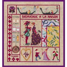 Embroidery Stitch Kit Welcome counted in February 2651 Le Bonheur des Dames