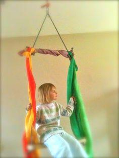 Indoor trapeze bar...