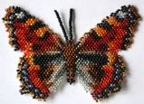 Butterfly Beading Patterns at Bead-Patterns.com beading patterns, bead pattern, bead butterfli, butterfli bead