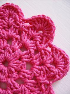 Flower coaster PDF crochet pattern