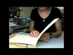 Book Repair - Endsheet Replacement Part II - YouTube