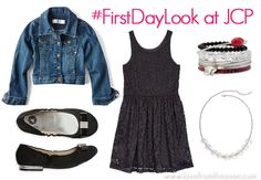Back to school #FirstDayLook at JCP by Love From The Oven 10-12