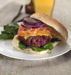 beef & beetroot burger