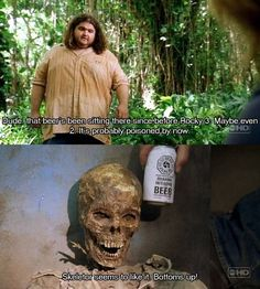 Skeletor seems to like it. Bottoms up! - Sawyer, LOST (smb: Who is Skeletor's son? Lost Memes, Lost Quotes, Lets Get Lost, Lost Love, One Tree Hill, Pretty Little Liars, Grey's Anatomy, Quotes Vampire Diaries, Movies Showing