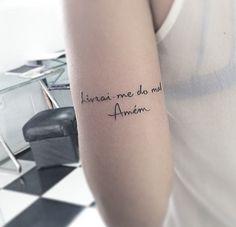 Resultado De Imagem Para Tattoo Livrai Me De Todo Mal Amem Ideias