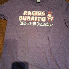 T-SHIRT RAGING BURRITO Purple T-Shirt  Gildan Softstyle Ring Spun 65%Polyester 30%Cotton Gildan Tops Tees - Short Sleeve