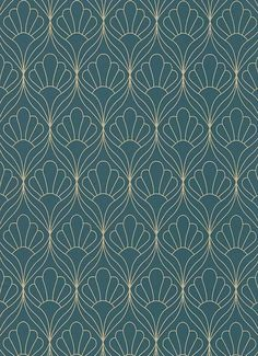This Art Deco Glitter Wallpaper screams Retro Glamour. ⠀ ⠀ ⠀ Pair with a crushed velvet arm chair, glass table with gold edging and/or legs, or a iconic arc lamp to get the Retro Glam look! Motifs Art Nouveau, Motif Art Deco, Art Deco Design, Wall Art Designs, Art Deco Wallpaper, Trellis Wallpaper, Glitter Wallpaper, Pattern Wallpaper, Royal Wallpaper