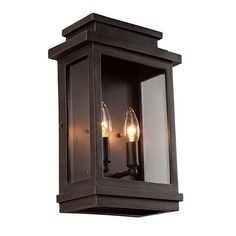 Filament Design Moravia 2-Light Oil-Rubbed Bronze Outdoor Sconce-CLI-ACG816473 - The Home Depot