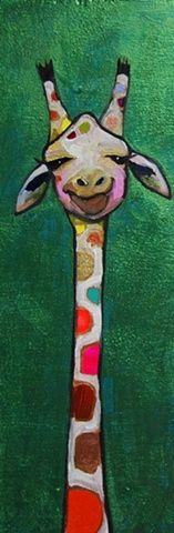Giraffe in Metallic Emerald Green, by Eli Halpin