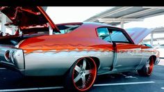 71 chevelle #becauseSS orange grey custom painted wheels two tone born in Atl Atlanta but now in maryland