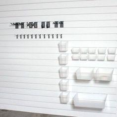 WFX Utility ProBundle ProBin Storage and Organization Kit Wall Tool Organizer, Pegboard Organization, Organizing, Metal Pegboard, Wall Storage Systems, Slat Wall, Storage Hacks, Scrapbook Rooms