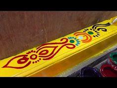 Rangoli Borders, Rangoli Patterns, Rangoli Border Designs, Beautiful Rangoli Designs, Painting Rangoli Design, Paint Sheen, Rangoli Designs Latest, Muggulu Design, Flower Rangoli