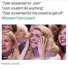 The clique didn't hurt tyler, the UK clique didn't hurt tyler, the crowd and BBC did. BBC had no respect for them, and didn't let Tyler get to his platform (can he really still not climb). He also got punched in his hamster ball and got his shirt ripped and shoes taken off. Josh couldn't stay on the drum platform, so he also had to leave the crowd. So many bad things happened at this show, but it was not the clique, it was the crowd. #respecttylerjoseph