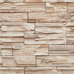 Wallpaper Faux Stacked Stone Rock Wall Look Thick Textured Vinyl in Home & Garden, Home Improvement, Building & Hardware | eBay