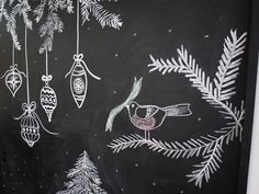 Image from http://www.agoodehouse.com/wp-content/uploads/2013/12/Christmas-chalkboard-bird.jpg.