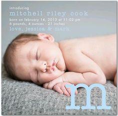baby announcement - tinyprints.com