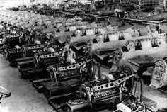 on the Assembly line factory at Weser in Tempel′gofe. Aircraft Engine, Ww2 Aircraft, Military Aircraft, Fighter Aircraft, Luftwaffe, Coventry Blitz, Female Marines, Armoured Personnel Carrier, Old Planes