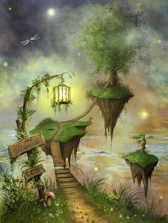 Magical dream fantasy, fantasy world, dream art, fantasy fairies, beautiful fantasy art Dream Fantasy, Fantasy World, Fantasy Fairies, Fantasy Places, Fantasy Landscape, Fairy Art, Fairy Houses, Faeries, Fairy Tales