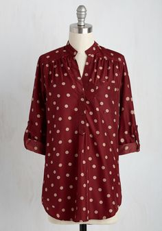Hosting for the Weekend Tunic in Merlot, #ModCloth