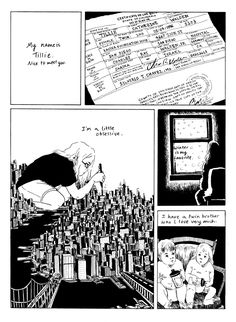 Homepage for cartoonist Tillie Walden.