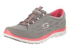 0155a47feef SKECHERS Women s Gratis - Full-Circle Gray Pink Sneaker 8 B (M)