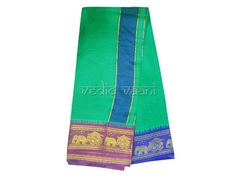 Buy Dhoti with Shawl - Elephant Rath Border online from India