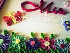 mariposas y flores para Mia