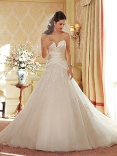 Style Y11404 (Arya) wedding dress • The amazing Sophia Tolli collection for spring 2014 is full of sparkling, sexy gowns
