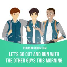 """""""Run with"""" means """"to stay in the company of someone or some group"""".  Example: Let's go out and run with the other guys this morning."""
