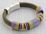 Iris Fields Regaliz™ Leather Bracelet