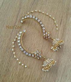India Jewelry, Gold Jewelry, Jewelery, Jewelry Accessories, Jewelry Necklaces, Jewelry Design, Fashion Earrings, Fashion Jewelry, Girls Earrings
