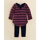 Splendid Infant Girls' Striped Henley Tunic & Legging Set - Sizes 3-24 Months