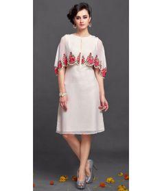 Amazing White Silk Designer Kurti.