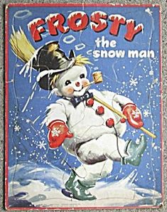 Vintage Frosty the Snowman Puzzle this is so cool.