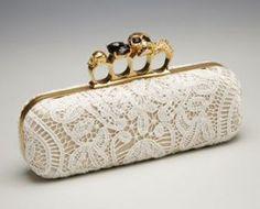 Alexander McQueen Lace Knuckle-Clasp Clutch white.jpg