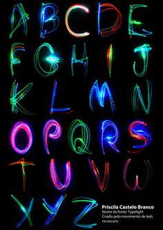 Typelight by Prispa Castelo Branco, via Behance