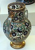 Vase by J&L Lobmeyr Vienna, Austria.Lead glass painted with enamels and gilt.During the 19th Century Islamic.