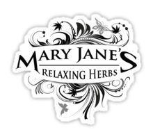 VINTAGE MARY JANE'S RELAXING HERBS - Something to stick wherever stickers are stuck.