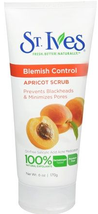 St. Ives Apricot Facial Scrub blemish control - the best exfoliater I've found makes my skin feel so clean!