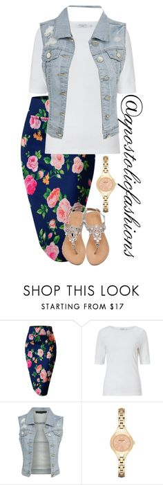 """Apostolic Fashions #1751"" by apostolicfashions ❤ liked on Polyvore featuring John Lewis and Emporio Armani"