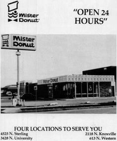 In my hometown of Peoria, IL Mister Donut was famous!