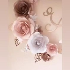 Paper Flower Decor, Giant Paper Flowers, Flower Wall Decor, Paper Roses, Diy Flowers, Baby Bottle Decorations, Rose Gold Christmas Decorations, Girl Birthday Decorations, Flower Decorations