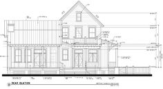 Rear Elevation of Country   Historic   House Plan 73901