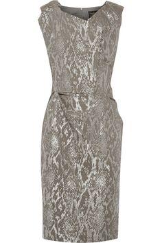 Vivienne Westwood Anglomania | Ocean metallic snake-jacquard dress | NET-A-PORTER.COM