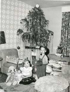 Christmas morning c. 1950s