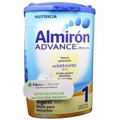 Almirón advance digest 1 AC/AE 800 gramos es la leche de inicio eficaz para el tratamiento del cólico y el estreñimiento y que ayuda al SIST...