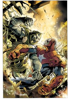 Doom vs Iron Patriot by Alan Davis So awesome to see two of my favorites together! Marvel Comic Universe, Marvel Comics Art, Comics Universe, Marvel Vs, Marvel Heroes, Comic Book Artists, Comic Book Characters, Comic Artist, Marvel Characters